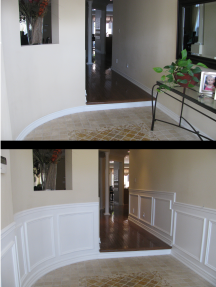 Wainscoting Before & After